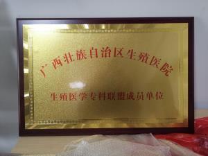 广西壮族自治区生殖医院金色牌匾制作